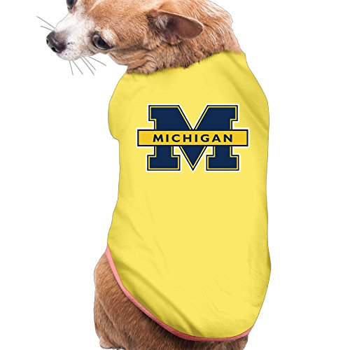Michigan Wolverines Cute Pet Dog Puppy Clothes Shirt