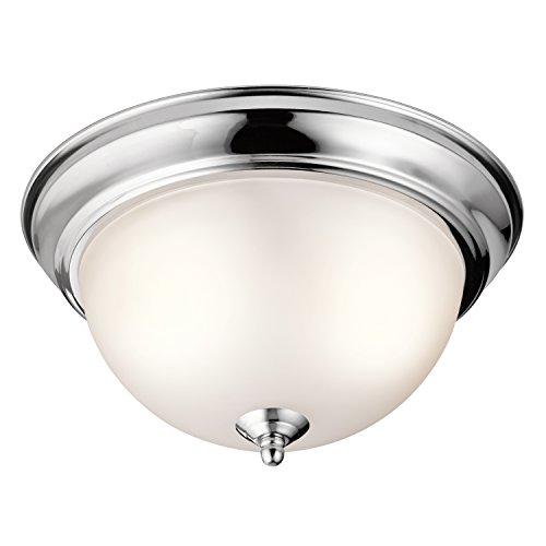 Kichler 8111CH Two Light Flush Mount - Chrome Dome Light
