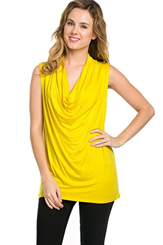 PEPPERLONELY Womens Stretch Sleeveless Cowl Neck product image
