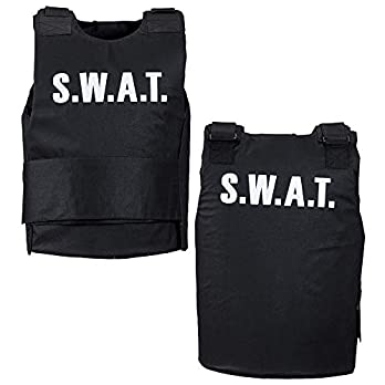 S.W.A.T. Vests – Size Accessory for Police Policeman Fancy Dress