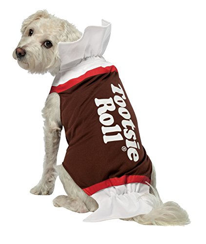 Rasta Imposta 213438 Tootsie Roll Dog Costume - White-Brown - Medium