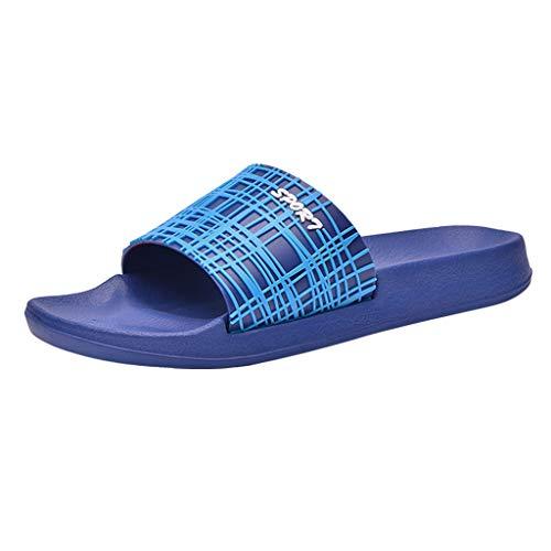 Slide Sandals for Men,SMALLE◕‿◕ Men's Slide Slipper Shower/Pool/Beach/Garden Quick Drying Sandal Bath Slippers Dark Blue