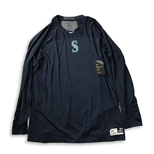 - Nike Seattle Mariners Pro Hypercool Authentic Collection Long Sleeve Shirt (XX-Large)