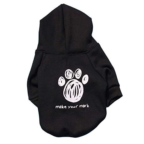 Black XS Black XS Doggy Costume Pet Supplies Misc Pet Clothing Dog Clothes Fleece Cloth Printed Hooded pet t-Shirt Autumn and Winter Models (color   Black, Size   XS) Pet Dog Clothes (color   Black, Size   XS)