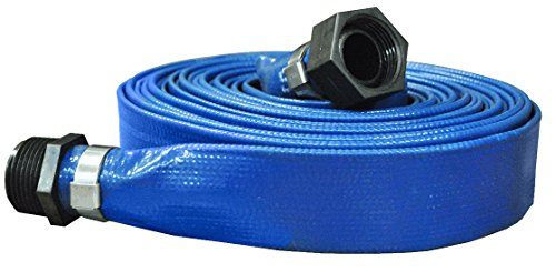 JGB Enterprises A008-0166-0025 Eagle-Flo Blue PVC Discharge Hose, 1