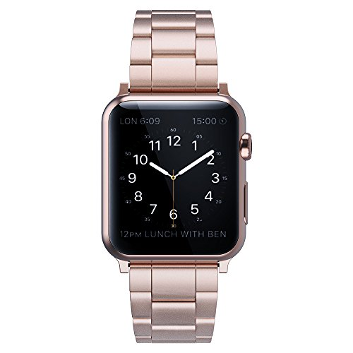 Simpeak Replacement iWatch Band 38mm 40mm Women Men Stailess Steel Metal Band Strap for Apple Watch Series 4 Series 3, Series 2, Series 1, 38mm/Rose Gold