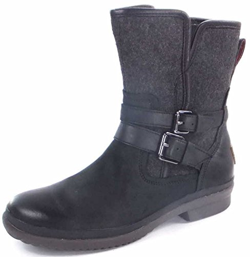 UGG Australia Women's Simmens Lined With Plush Wool, Black/Wool, Size 7.0 (Usa Australia Ugg)