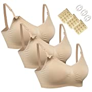 Women's Seamless Nursing Maternity Bra Push Up Comfort Sleep Bralette 3PCS/Pack
