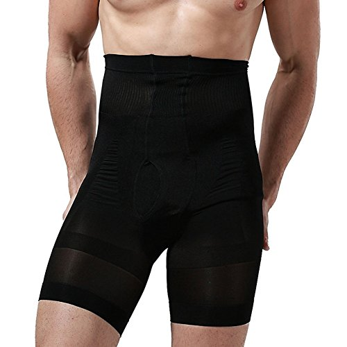 Showbellia Men's Slimming Shorts Waist Training Compression Shaper Pants Black One size