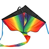 Huge Rainbow Kite – 46-inch Wingspan – Beginner Kites For Sale – Floats In The Breeze Rainbow Kite – Perfect Kites for Kids, Easy Flyer – Lightweight And Strong Nylon Construction