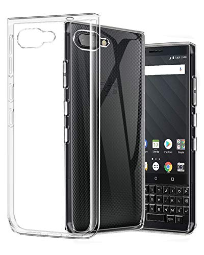 Blackberry Rubber Case - BlackBerry KEY2 Case, TopACE TPU Rubber Gel Shock-Absorption Bumper Anti-Scratch Transparent Silicone Cover for BlackBerry KEY2 (Clear)