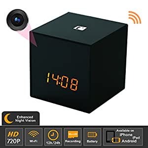Titathink TT531WN-PRO Enhanced Night Vision HD Wifi Covert Hidden Nanny Spy Clock Network camera