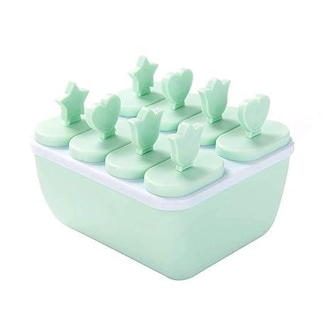 Wmaple Moldes para helados Ice Lolly, 8 piezas Juego de ...