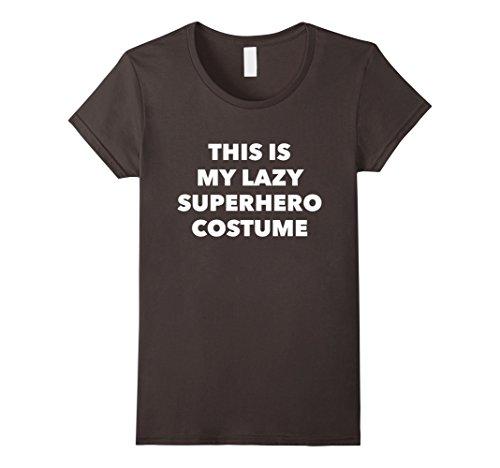 [Women's This is My Lazy Super Hero Costume Party T-Shirt Medium Asphalt] (Cool Female Superhero Costumes)