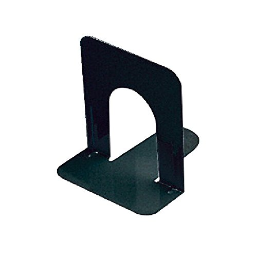 School Smart Non Skid Bookends - Standard Size - Set of Two - Black