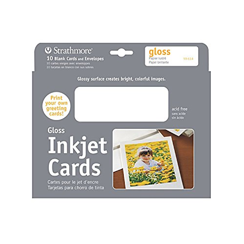 Strathmore Digital Photo Cards glossy finish, 5-x-7-Inch -