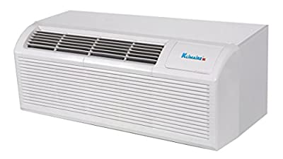 Klimaire 12000 Btu PTAC Heat Pump Air Conditioner with Back Up 3 kW Electric Heater