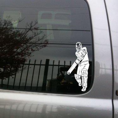 Cricket Player vinyl decal -