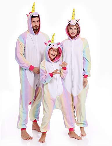 Unicorn Onesies Adult Pajamas Kigurumi Unisex Halloween Xmas Costume for Women Men -