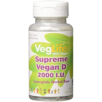 VegLife Supreme Vegan D Vegan Tablet, 2000 iu, 100 Count