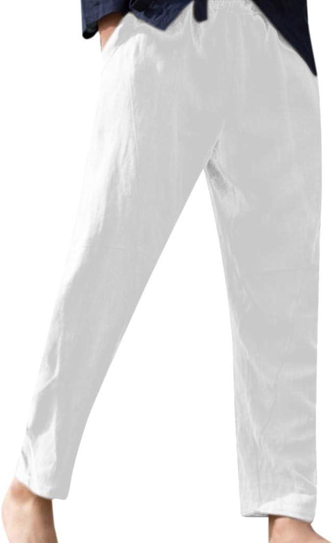fornire lol scemo  Snowbuff Pantaloni di Corda Pura di Canapa di Cotone Sciolto Uomo da Pantaloni  Lino,Pantaloni Uomo Estivi Slim Fit Jeans Cargo Jogging Sportivi Pantalone  da Ginnastica Leggings Pantaloni di Lino: Amazon.it: Abbigliamento