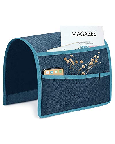 Green 13' Cell - Joywell Sofa Armrest Pocket Organizer,Anti-Sliding Couch Arm Chair Caddy with 5 Pockets for Magazine, Books, TV Remote Control, Cell Phone, Glasses, iPad (13'' x 35'', Dark Teal)