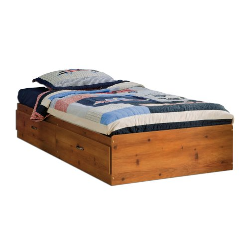 South Shore Logik Collection Twin Mates Bed, Sunny Pine