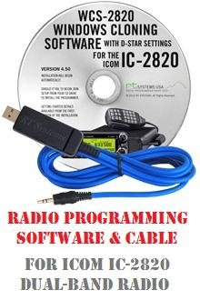 Icom IC-2820 Two-Way Radio Programming Software & Cable Kit