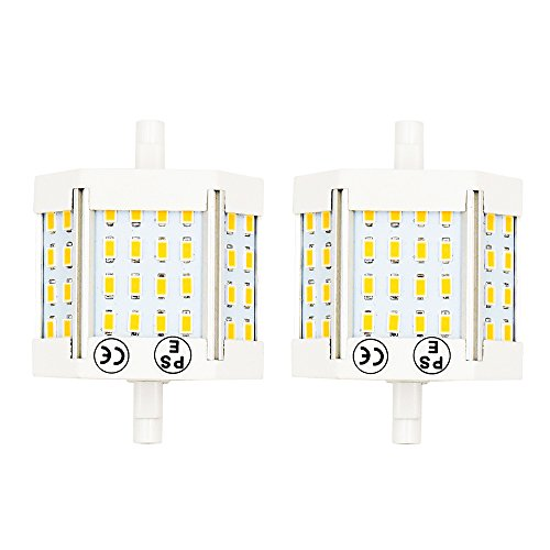 Bonlux 10W J78 R7s LED Light Bulb Double Ended J Type 78mm (3) Daylgiht 6000K LED R7s Flood Light 100W Halogen Bulb Equivalent (Pack of 2)
