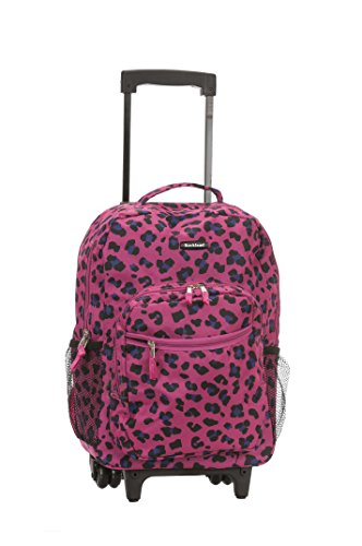 rockland-17-inch-rolling-backpack-magenta-leopard-one-size