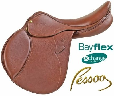(Pessoa Gen X Natural XCH Oakbark Saddle - Size:18 Flap:Forward Long)