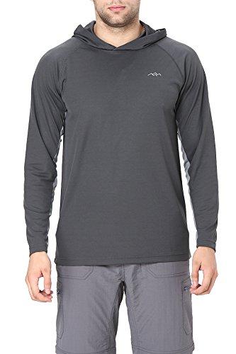Trailside Supply Co. Men's Long Sleeve Running Hoodie Shirt Hooded Tee