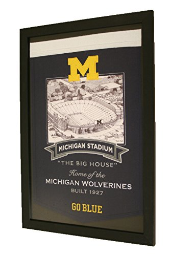 Michigan Wolverines NCAA Framed Big House Stadium Series Banner by NCAA