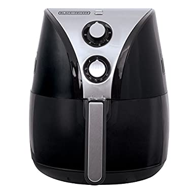 BLACK+DECKER HF110SBD 2-Liter Oil Free Air Fryer, Black / Stainless Steel