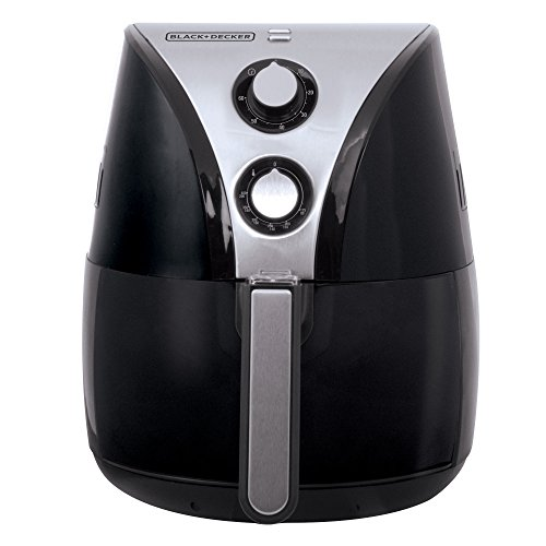BLACK+DECKER HF110SBD 2-Liter Oil Free Air Fryer, Black / Stainless