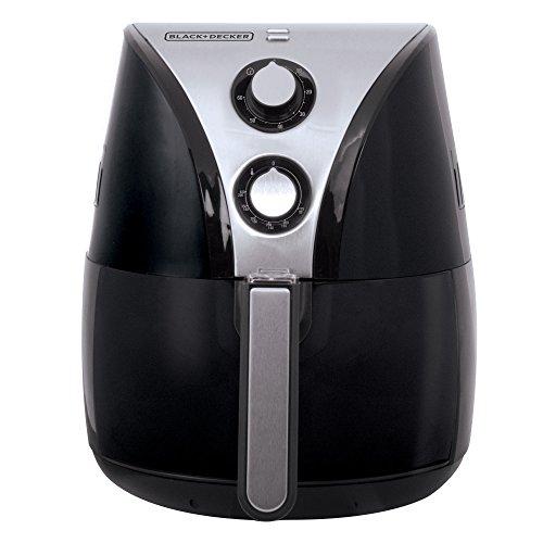 BLACK+DECKER HF110SBD 2-Liter Oil Free Air Fryer, Black / Stainless Steel
