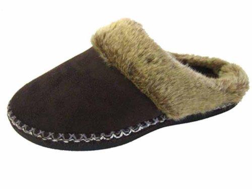 Ladies Coolers Mule Slippers Outdoor Sole Brown WZDmUU