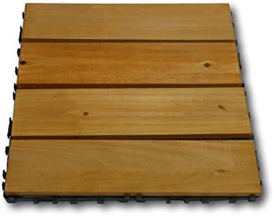Juego de 10 azulejos azulejos suelo Tabla de madera para terraza balcón jardín por azulejos 30 x 30 cm: Amazon.es: Jardín