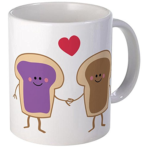 CafePress - Peanut Butter Loves Jelly - Unique Coffee Mug, Coffee Cup