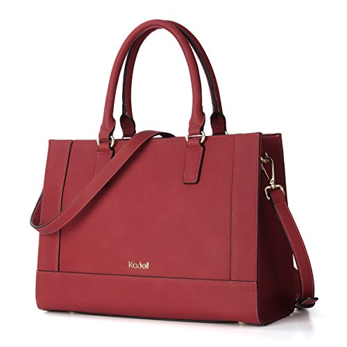 Satchel Leather Tote Large Wine Messenger Kadell Fashion Handle Red Bags Women PU Shoulder Top Handbags qvtYTX