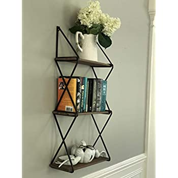 AVIGNON HOME Rustic Floating Wood Shelves 40Tier Wall Mount Hanging Shelves Book Shelves Industrial Wood Book Shelves Storage Display Decor For Simple Avignon Bedroom Furniture Decor