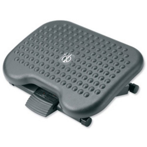Compucessory Footrest Tilting Adjustable H95-170mm W460 x D340 x H171 Charcoal Ref CCS23751 779030
