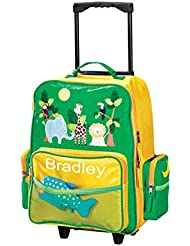 Personalized Boys or Girls Zoo Animals Rolling Suitcase - Customize with Your Child's Name - Luggage