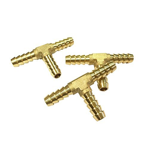 NIGO 3-Way Tee Brass Hose Fitting (3, 1/4