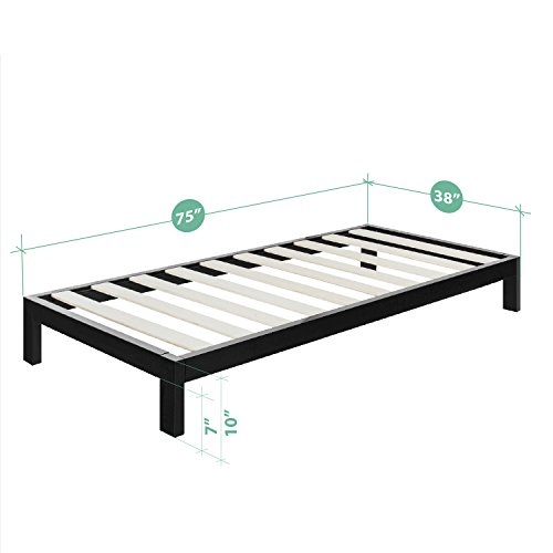 Zinus Arnav Modern Studio 10 Inch Platform 2000 Metal Bed Frame / Mattress Foundation / No Box Spring Needed / Wooden Slat Support / Good Design Award Winner, Twin