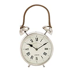 Benzara The Jolly Metal Table Clock