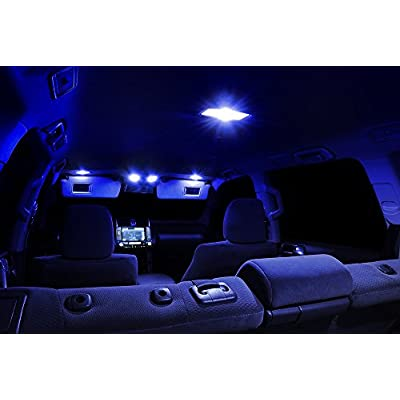 Xtremevision Interior LED for Jeep Grand Cherokee 2005-2010 (9 Pieces) Blue Interior LED Kit + Installation Tool: Automotive
