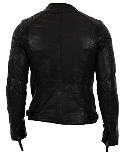 Alta Qualità Pelle Uomo Vera Classyak Elegante In Giacca Di Moda Black Sheep WzxB8BqUp