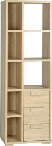 Seconique Cambourne 3 Drawer Display Unit - Sonoma Oak Effect 400-406-003