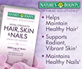 Best Hair Skin And Nails Vitamins - Nature's Bounty Extra Strength Hair Skin Nails, 250 Review